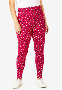 Cozy Legging, CLASSIC RED CONFETTI DOT