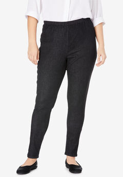 Fineline Denim Jegging, BLACK DENIM