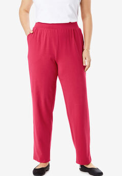 EveryWear Essentials™ Straight Leg Pant, CLASSIC RED