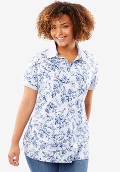 Perfect Printed Polo Tee,