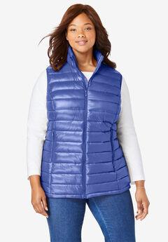 Packable Puffer Vest, TULIP PURPLE