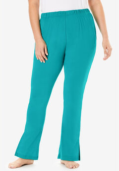 Dreams & Co.® Side Slit Wide Leg Pant, WATERFALL