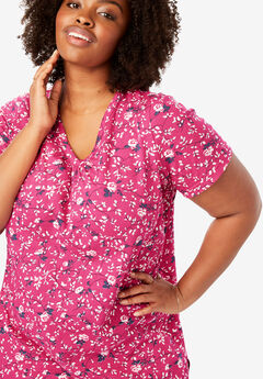 6ce8ec1d65c Perfect Printed Shirred V-Neck Tunic