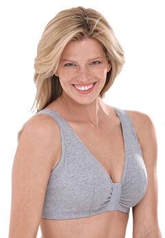 Leading Lady® Meryl Cotton Front-Close Wireless Bra #0110,