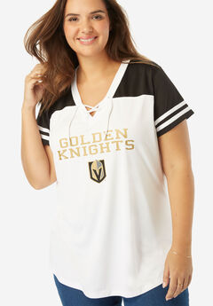NHL Team V-Neck Lace-Up Tee,