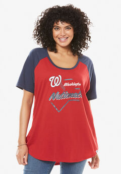 MLB High-Low Hem Tee,