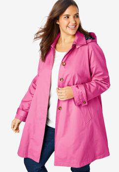 Hooded A-Line Raincoat,