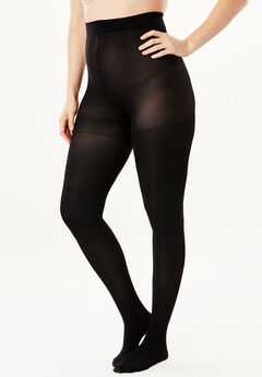 2-Pack Semi-Sheer Smoothing Tights by Comfort Choice®, BLACK