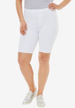 Knit Denim Bermuda Shorts,