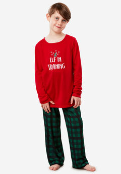 The Family Festive PJ Set for Kids by Dreams & Co.®, CLASSIC RED ELF