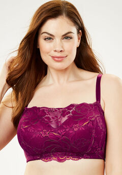 Wireless Floral Lace Bra by Comfort Choice®,