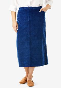 Corduroy Skirt, EVENING BLUE