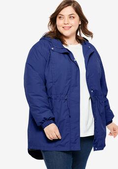 High-Low Hooded Taslon® Jacket, ULTRA BLUE