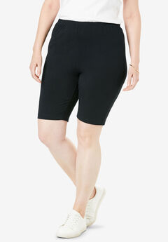Stretch Cotton Bike Short, BLACK