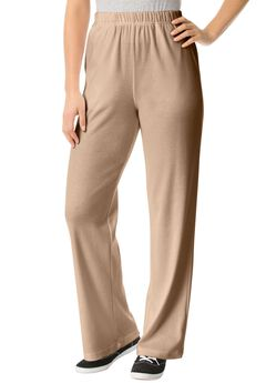 7-Day Knit Wide Leg Pant, NEW KHAKI