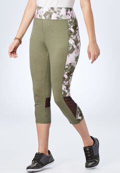 Mesh Colorblock Capri,