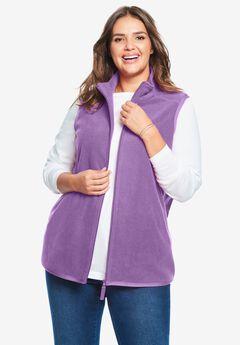 Zip-Front Microfleece Vest,