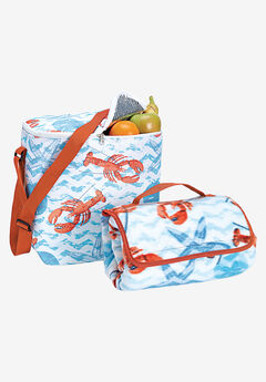 Cooler Bag and Beach Blanket Set,