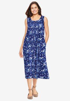 Sleeveless Pintuck Dress,