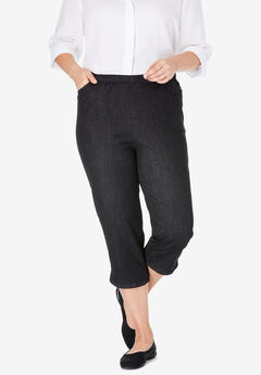 Capri Fineline Jean, BLACK DENIM