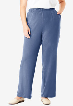 7-Day Knit Wide Leg Pant, LIGHT INDIGO