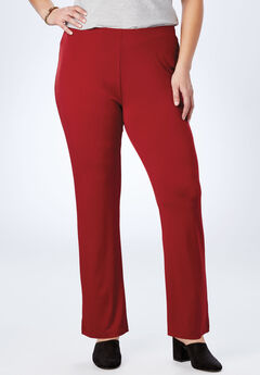 Best Dressed® Essential Slim Leg Pant, RICH BURGUNDY