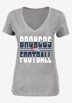 Classic V-Neck Short Sleeve NFL® Tee, BRONCOS