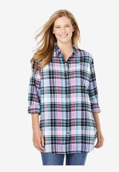 Classic Flannel Shirt, CARIBBEAN BLUE MULTI PLAID