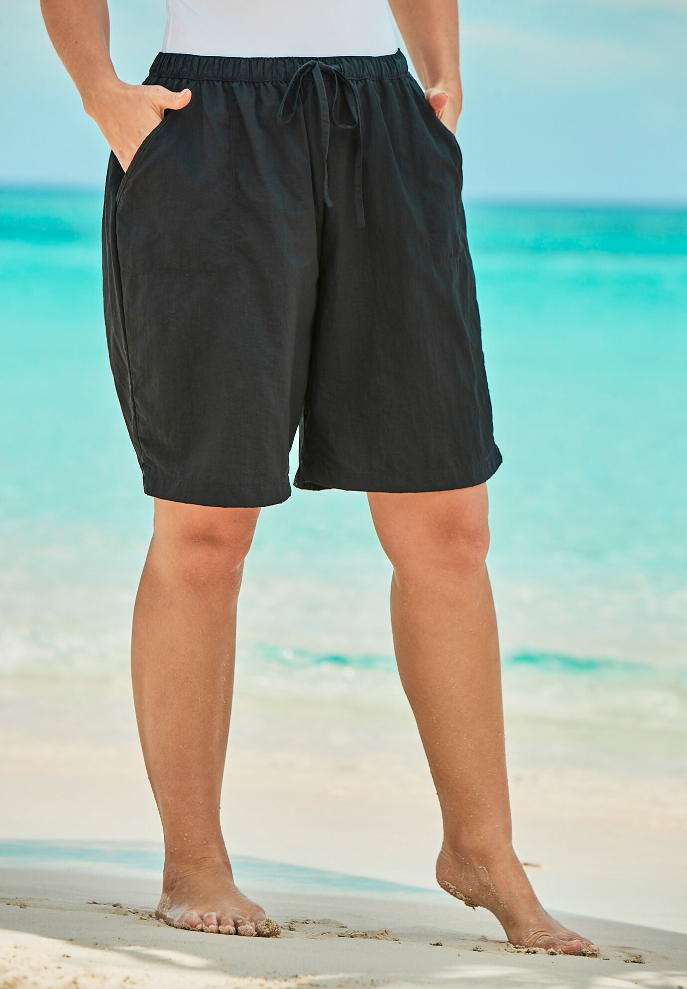 Black Zebra Head Lines with Feather Loose Beach Shorts for Men