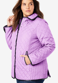 Quilted Snap-Front Jacket,