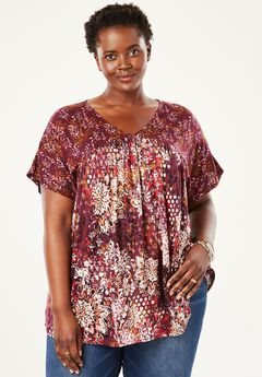 Print Babydoll Top by Chelsea Studio®,