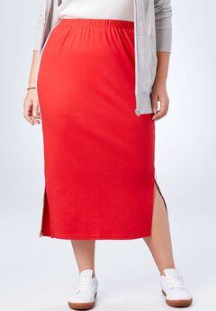 Side-Stripe Long Skirt,