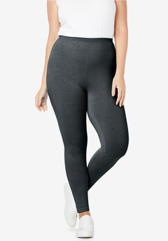 Stretch Cotton Legging. Woman Within 84be51872921