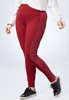Side-Rib Ponte Legging,