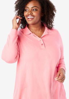 Long Sleeve Polo Perfect Tunic,