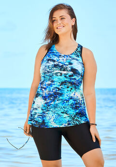 Longer Length Tankini Top,