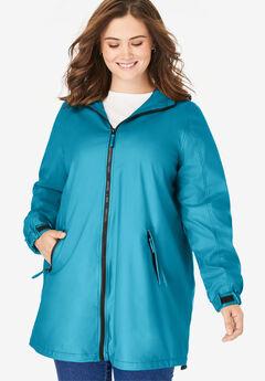 Hooded Slicker Raincoat,