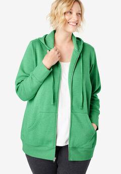 055683fea11 Better Fleece Zip-Front Hoodie. Woman Within
