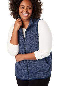 Microfleece Zip Front Vest,
