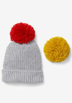 Big Pom-Pom Knit Beanie,