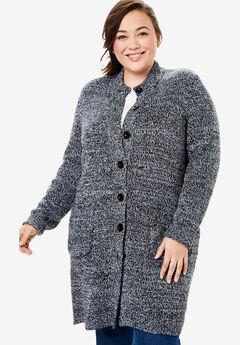1e8438450f0 Hooded Berber Fleece Duster Coat