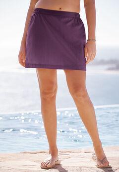 Taslon® Coverup Skirt, EGGPLANT