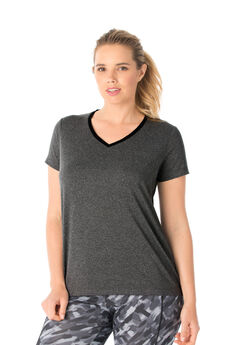 Peached Knit Tee by FullBeauty SPORT®,