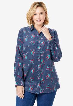 Button Front Corduroy Shirt,