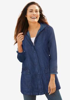Lightweight Hooded Jacket, INDIGO