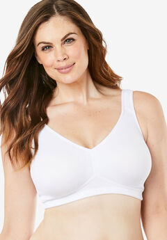 Leading Lady® Dreamy Comfort Microfiber Everyday Bra #5006, WHITE