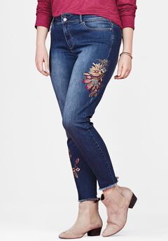 Floral Embroidered Skinny Jean by Chelsea Studio®,