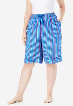 Convertible Cotton Pajama Short by Dreams & Co.®,
