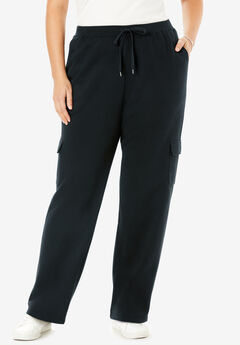 Better Fleece Cargo Sweatpant, BLACK