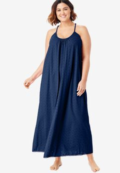 Breezy Eyelet Knit Long Nightgown by Dreams & Co.®,